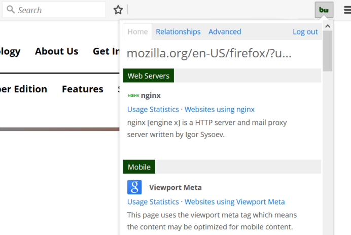BuiltWith For Firefox (Web Extension) – BuiltWith Blog